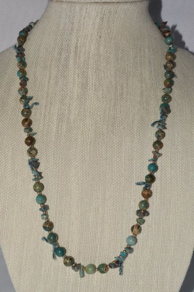 Gemstone Beaded Necklace with a touch of by UniuqeManningJewelry