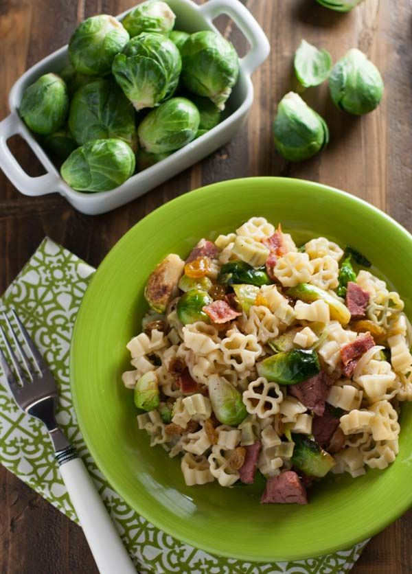 recipe: spinach brussel sprout pasta [18]