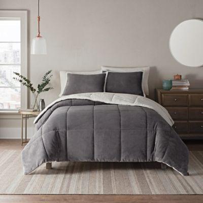 5da06693bc7e Ugg Clifton 3-Piece Reversible Full/queen Comforter Set In Metal ...