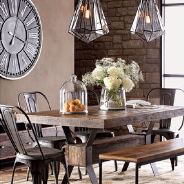 Love This Dining Room Lookfor My Next Housesoonlove Adorable Industrial Style Dining Room Tables Decorating Design