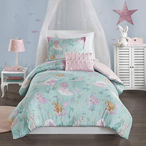 Mi Zone Kids Darya Comforter Mermaid Clam Shell Sea Ocean