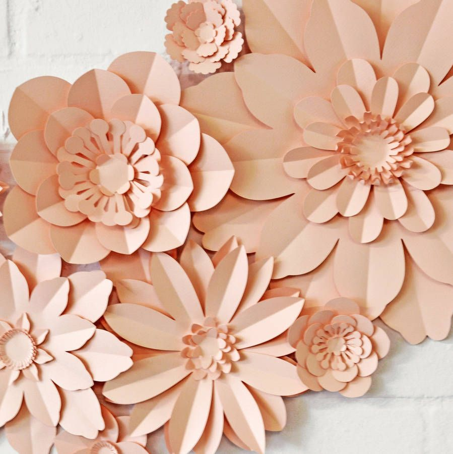 Set Of 11 Handmade Paper Flowers Handmade Paper Flowers Card