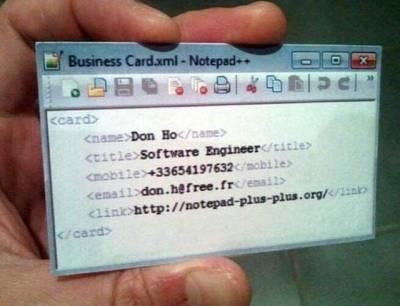 Creative idea for a software engineer business card httpift creative idea for a software engineer business card httpift2lpf8vd reheart Image collections
