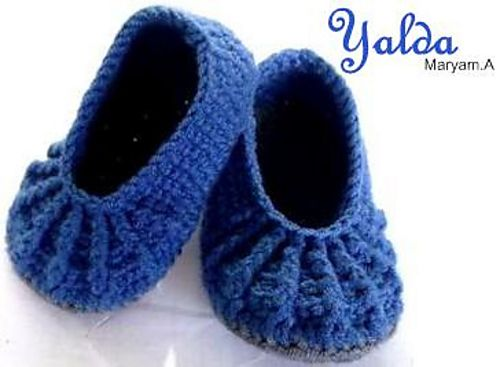 Ravelry Yalda Slippers Pattern By Maryam Ataei Crochet Patterns