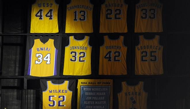 Shaquille O Neal S Number Retired To The Staples Center Hall Of Fame Shaquille O Neal Nba Jersey