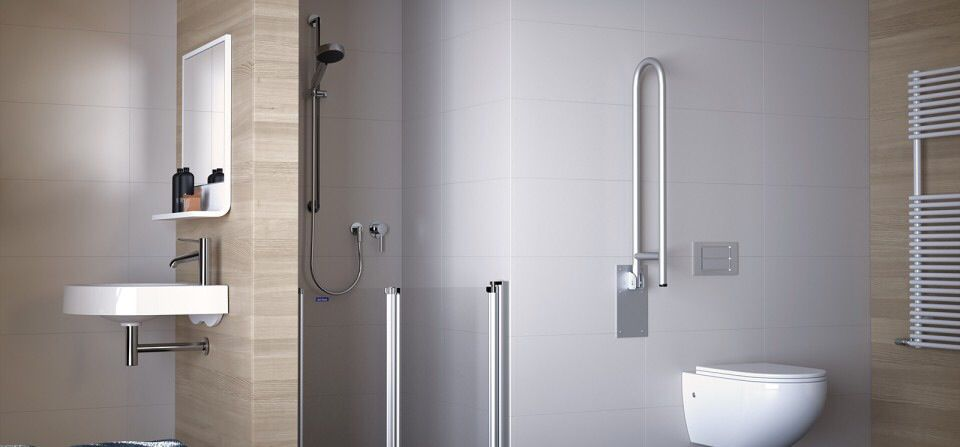 am nagement salle d 39 eau pmr accessibility pinterest am nagement eaux et salle. Black Bedroom Furniture Sets. Home Design Ideas