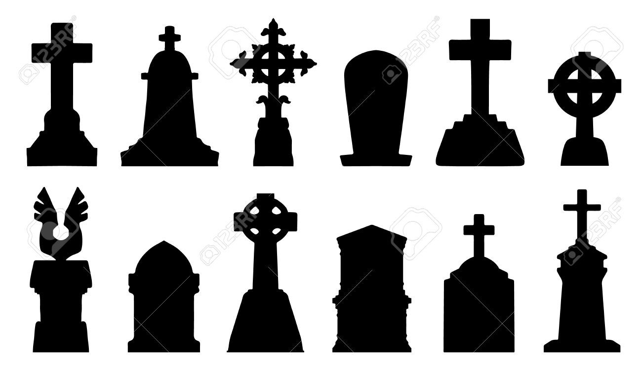 32010009-tombstone-silhouettes-on-the-white-background-Stock-Vector.jpg (1300×742)
