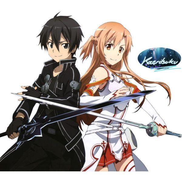 Render Sword Art Online Kirito Asuna Sao Animes Et Manga Png Image Liked On Polyvore Featurin Sword Art Sword Art Online Funny Sword Art Online Kirito