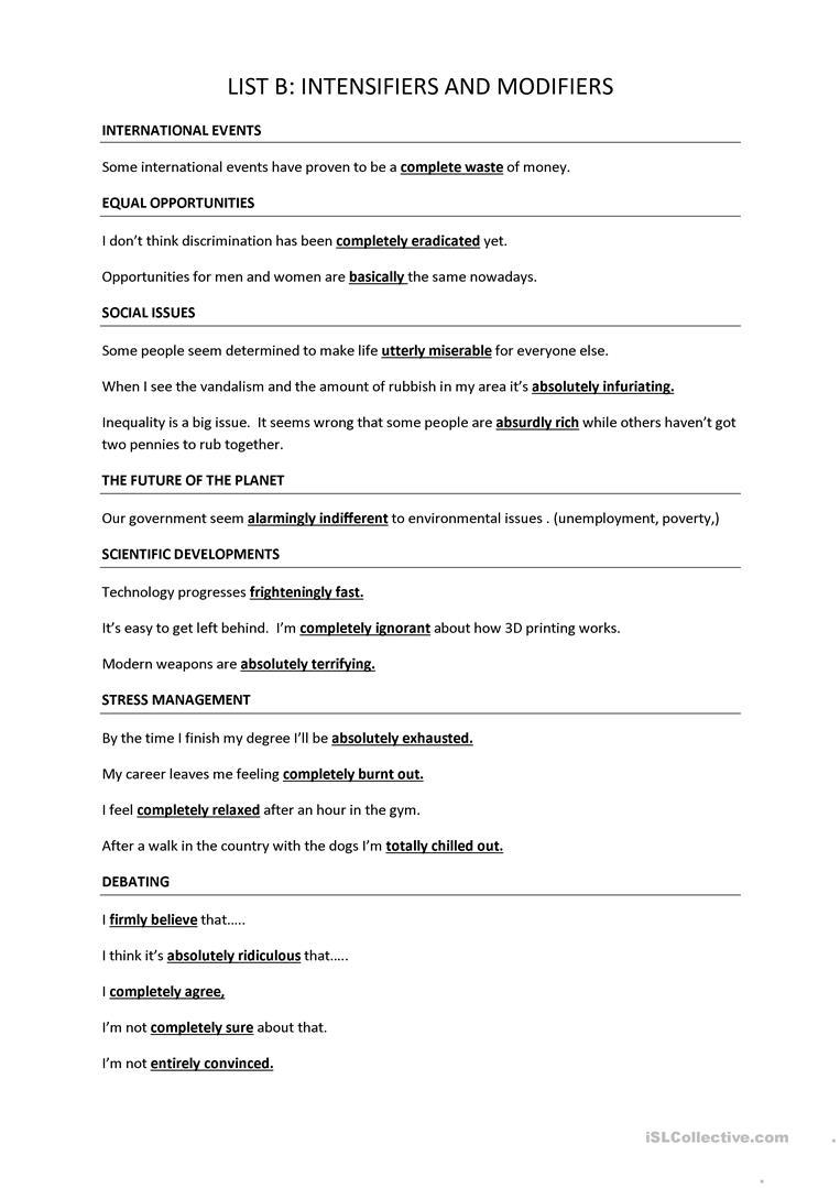 Trinity GESE Grade 10 Intensifiers Teaching jobs