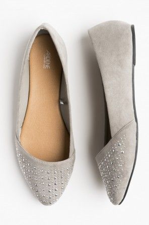 d474183b964ba7 Ardene Pointy studded flats $17.50 (also in nude/beige) | Shopping ...