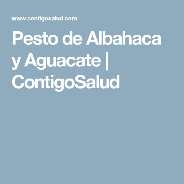 Pesto de Albahaca y Aguacate | ContigoSalud