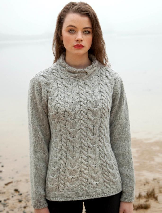 Aran cable knit sweater, Fisherman sweater woman | Aran Sweater ...