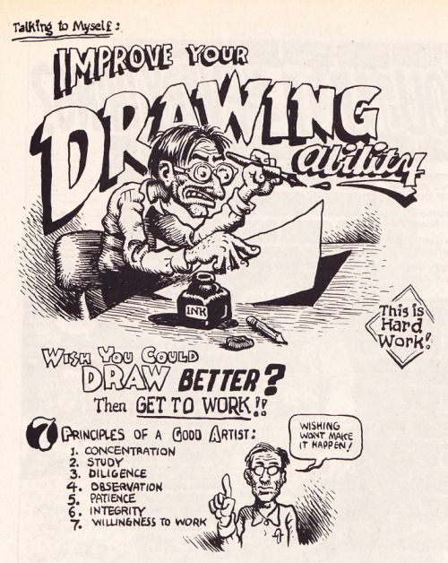 Improve Your Drawing Ability by Robert Crumb