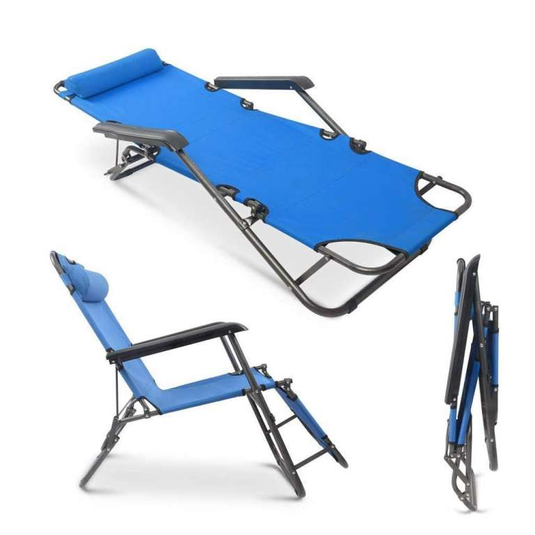 Teekland Folding Beach Reclining Lounge Chairs In 2020 Beach Lounge Chair Lounge Chair Outdoor Zero Gravity Chair Outdoor