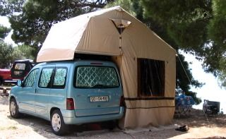 Cool Tent With Bed On Top Of Van Installs On Roof Rack