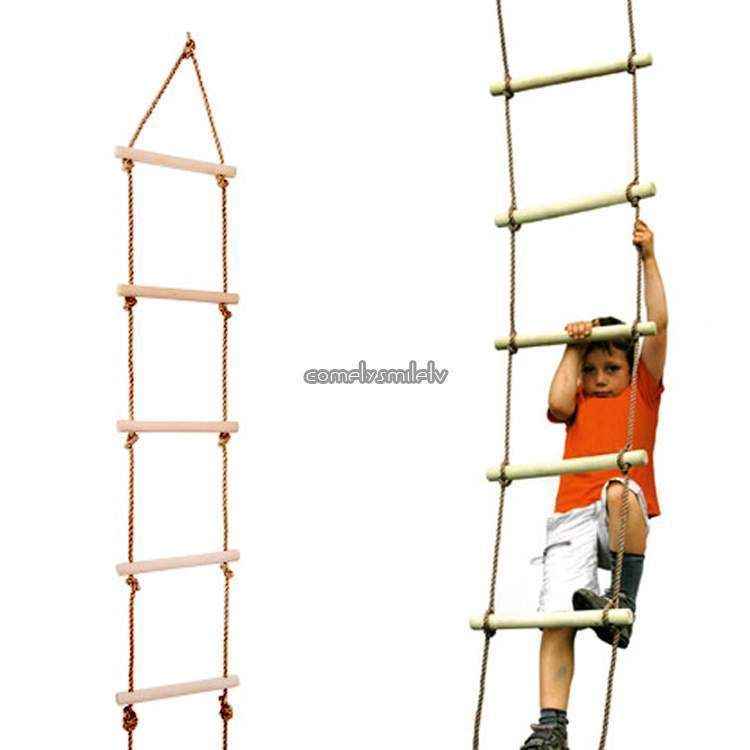 Sports Wooden Climbing Rope Ladder for Playground/Outdoor Tree Swing set 330lbs #UnbrandedGeneric