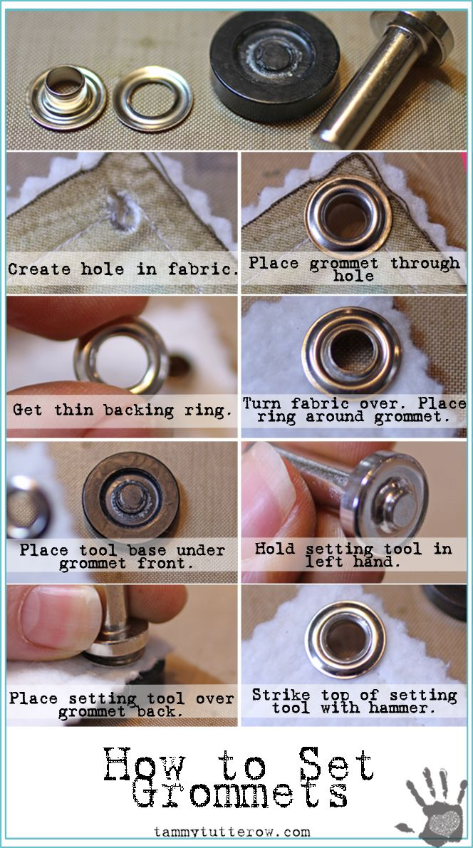 Basics 101 How To Set Grommets Sewing Hacks Sewing Techniques Leather Craft