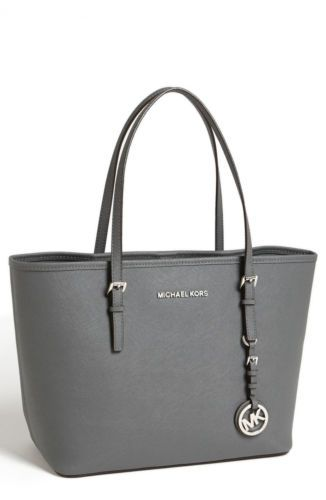f7517582be7242 Michael Michael Kors Handbag Jet Set Travel Small Tote Dark Slate | eBay
