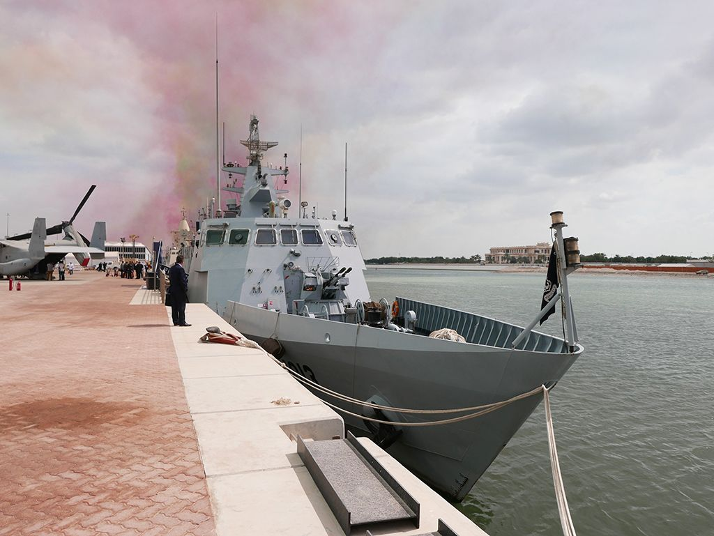 The Pakistan navy's fast-attack craft Azmat, first of two ...