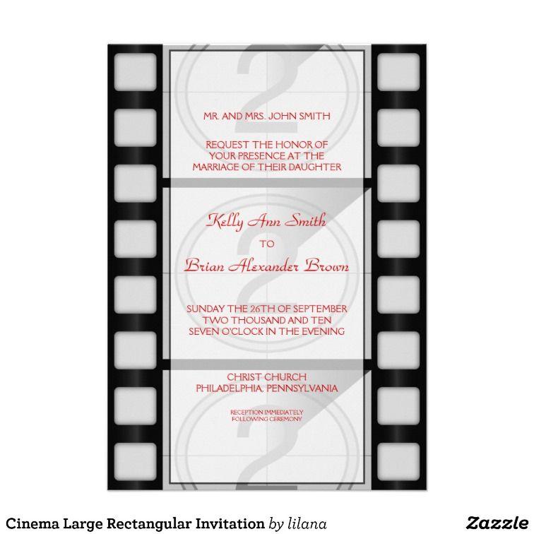 Cinema Large Rectangular Invitation Movie Theme Weddings Weddings