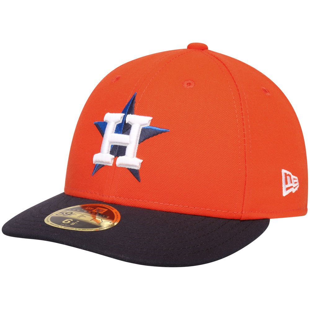 cf348db2826 Men s Houston Astros New Era Orange 2017 Postseason Side Patch Low Profile  59FIFTY Fitted Hat