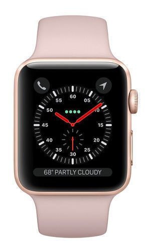 38MM GPS Gold with Pink Sport Band
