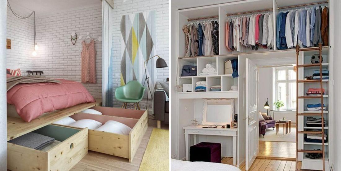 15 Brillantes Idees Pour Amenager Une Petite Chambre A Coucher En