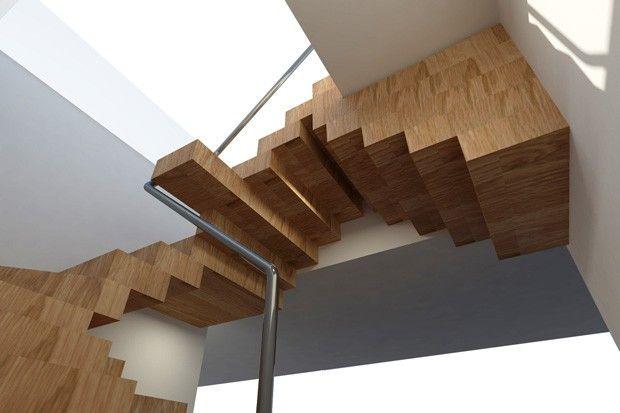 Instalação em escritório remete às escadas infinitas de Escher
