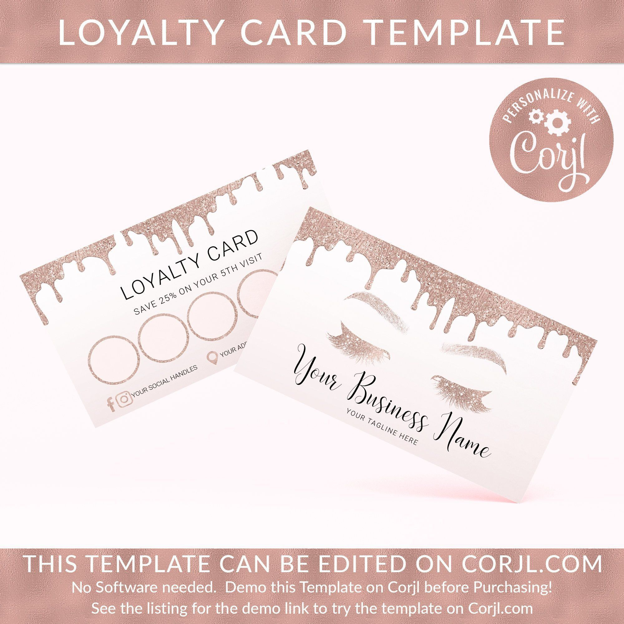 Loyalty Card Template Loyalty Card Custom Lash Card Intended For Loyalty Card Design Template Cumed Loyalty Card Design Loyalty Card Template Card Template