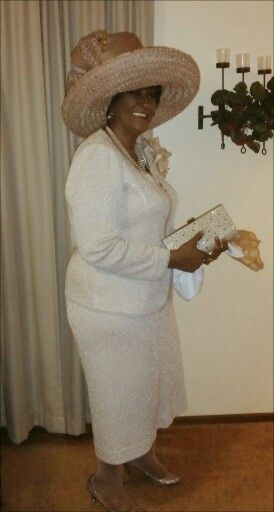 Hat by Joyce Richardson for Louise D. Patterson Couture ...suit by Donna Vinci