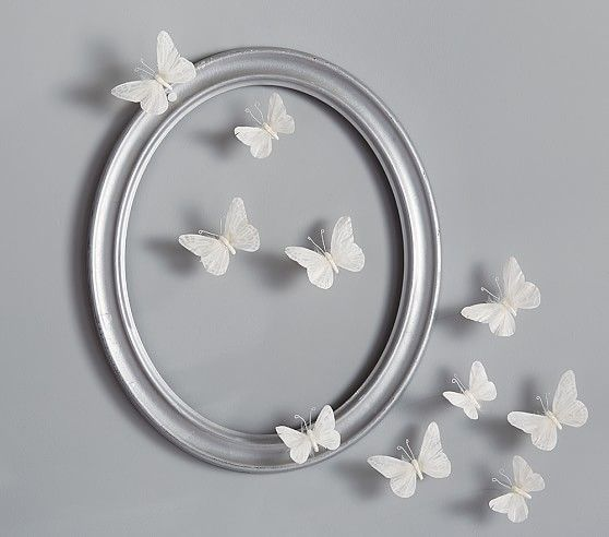 White Feather Butterflies Set | Pottery Barn Kids