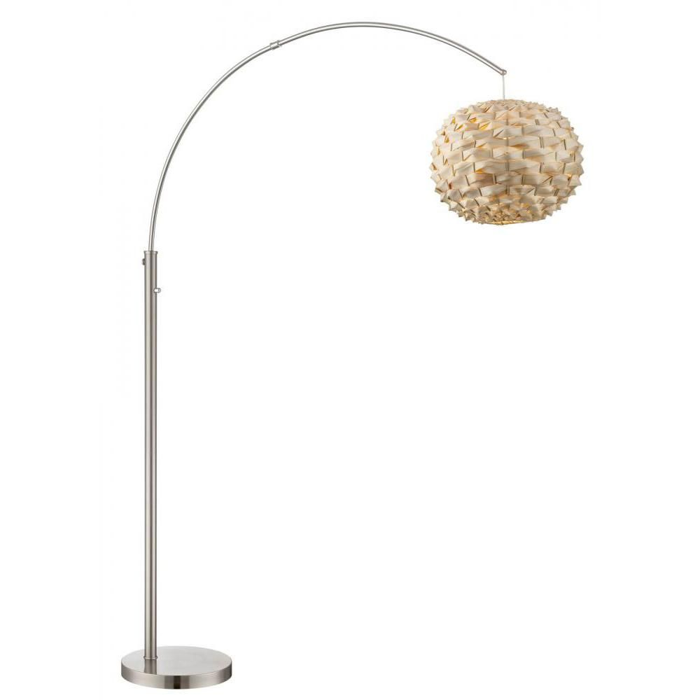 Filament Design 76 in. Polished Steel Floor Lamp