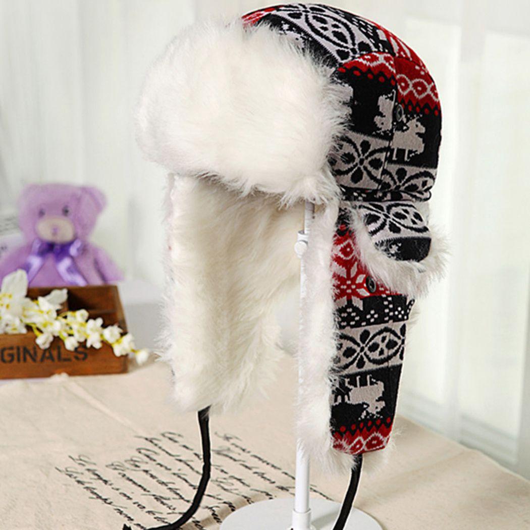 Earflap russian trooper trapper faux fur ski beanie hat cap women winter hat  jpg 1050x1050 Russian fbe408fb00da