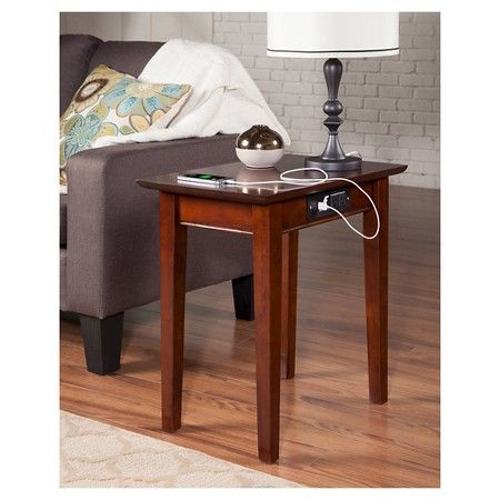 Shaker Chair Side Table With Charger Atlantic Furniture Atlantic Furniture Walnut Side Tables Chair Side Table