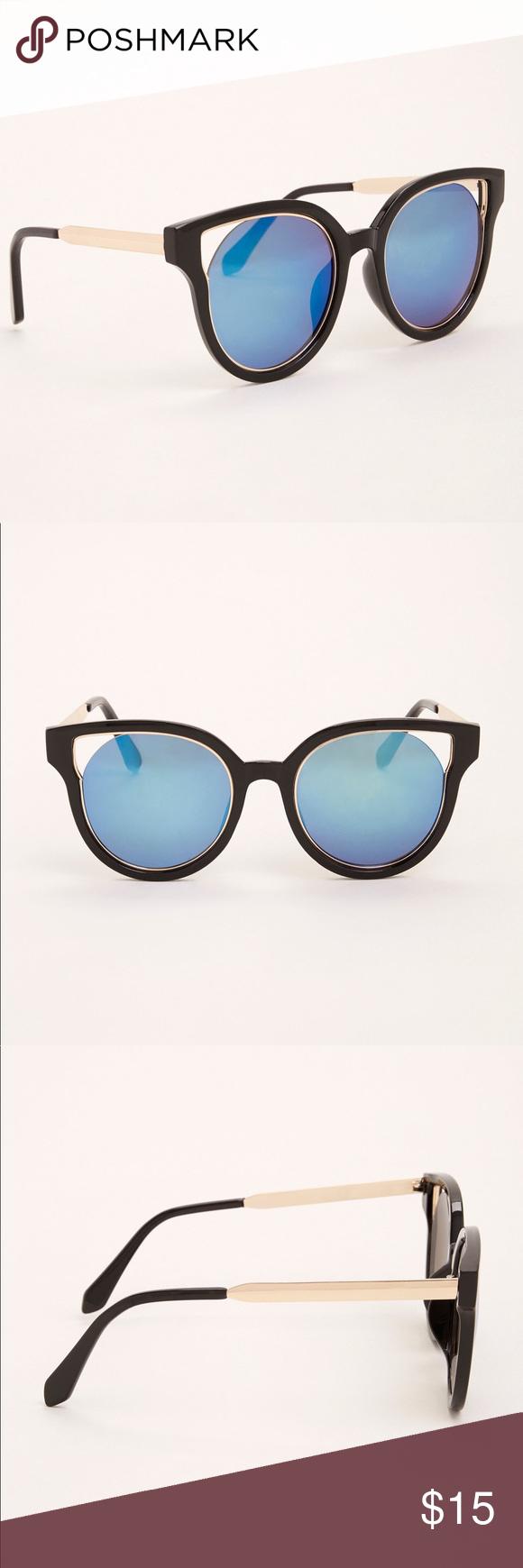 867cc6f40a6e9 🌷 Torrid cut out cateye reflective sunglasses NWT