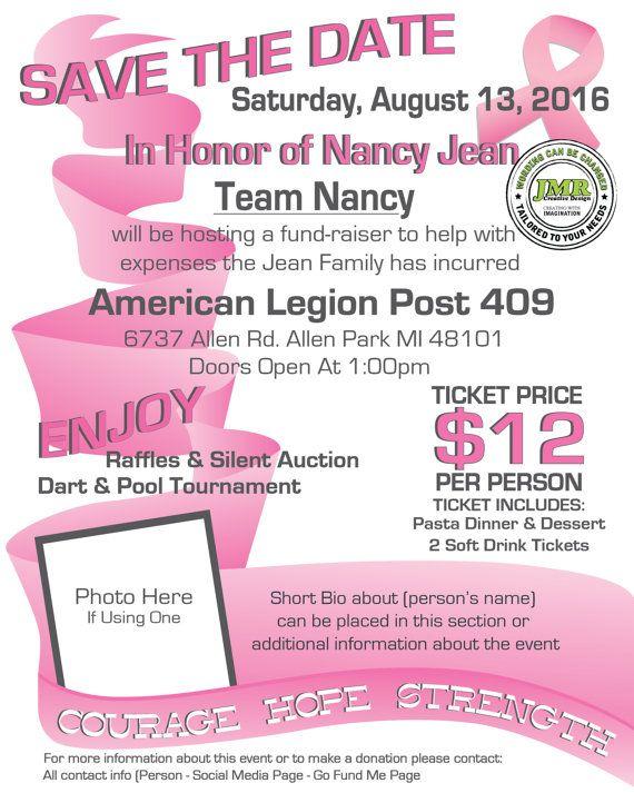 Breast Cancer Benefit Flyer Fundraiser Flyer By Jmrcreativedesign