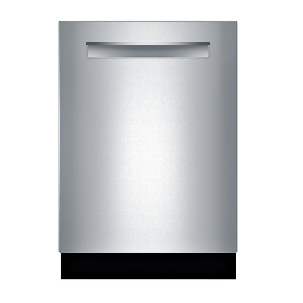 Bosch 500 Series 24 In Stainless Steel Top Control Tall Tub Pocket Handle Dishwasher With Stainless Steel Tub Autoair 44dba Shpm65z55n The Home Depot Built In Dishwasher Top Control Dishwasher Steel Tub