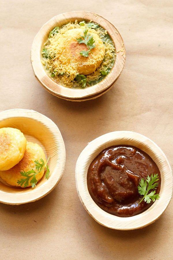 Tamarind Date Chutney Recipe with step by step photos. Sweet Chutney for Chaat Recipe. This Tamarind Date Chutney recipe is a sweet chutney can be had for making chaat items like pani puri, bhel puri, sev puri, ragda pattice, aloo tikki.