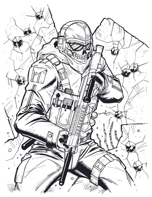 Ghost Face By Ian Navarro On Deviantart Military Drawings Ghost Faces Graffiti Drawing