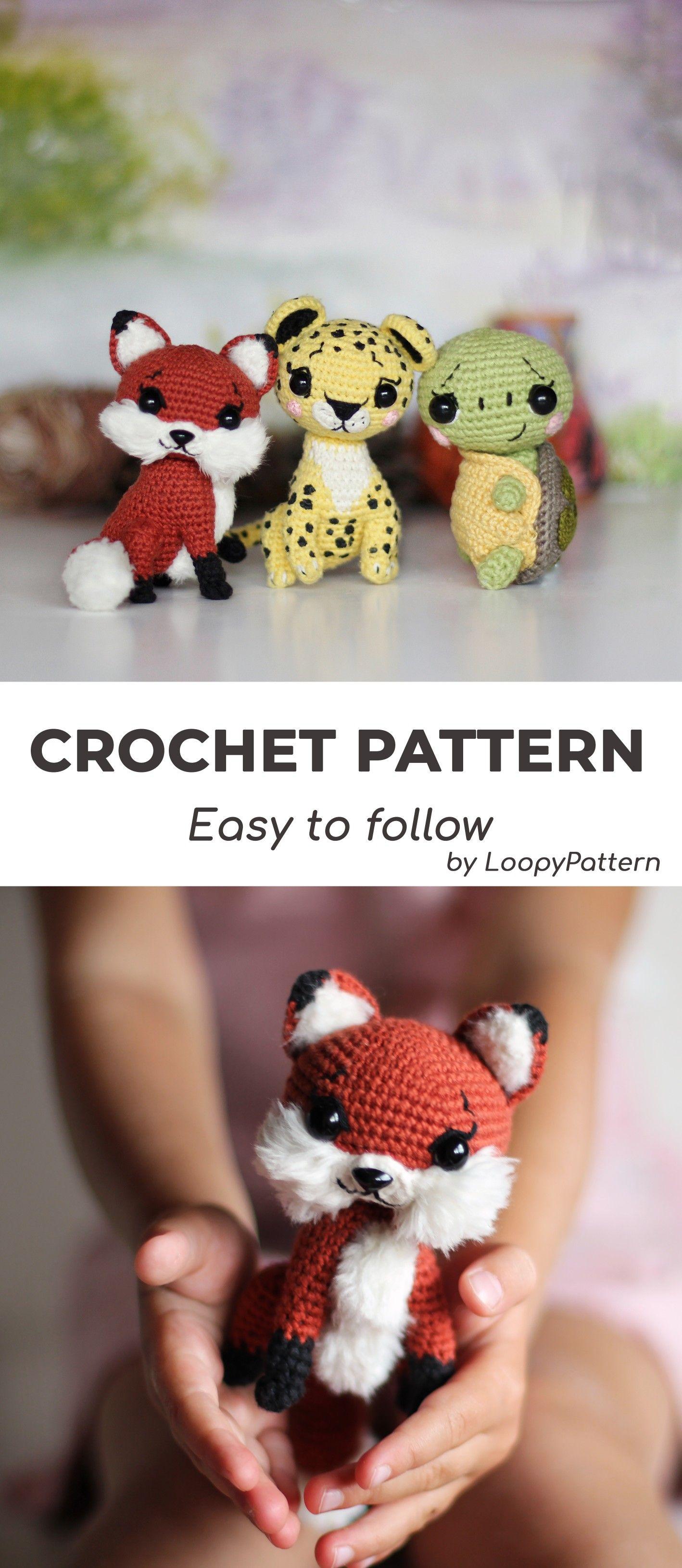 AMIGURUMI pattern crochet toys by LoopyPattern #crochetturtles