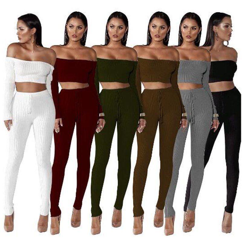 bbb53c7133f0 Women Crop Top Blouse + Pants Two-Piece Playsuit Bodysuit Jumpsuit Romper  Set