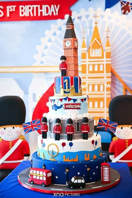 a british themed 1st birthday perfect for a royal little prince