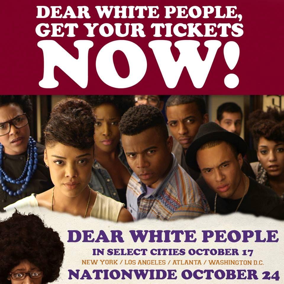 "Dear White People (2014) - #DearWhitePeople - @DearWhitePeop[le - http://www.dearwhitepeoplemovie.com/ - https://www.facebook.com/DearWhitePeople - http://instagram.com/dearwhitepeople - BLACK HOLLYWOOD FORWARD! - Money Train, FuTurXTV & Funk Gumbo Radio: http://www.live365.com/stations/sirhobson and ""Like"" us at: https://www.facebook.com/FUNKGUMBORADIO"