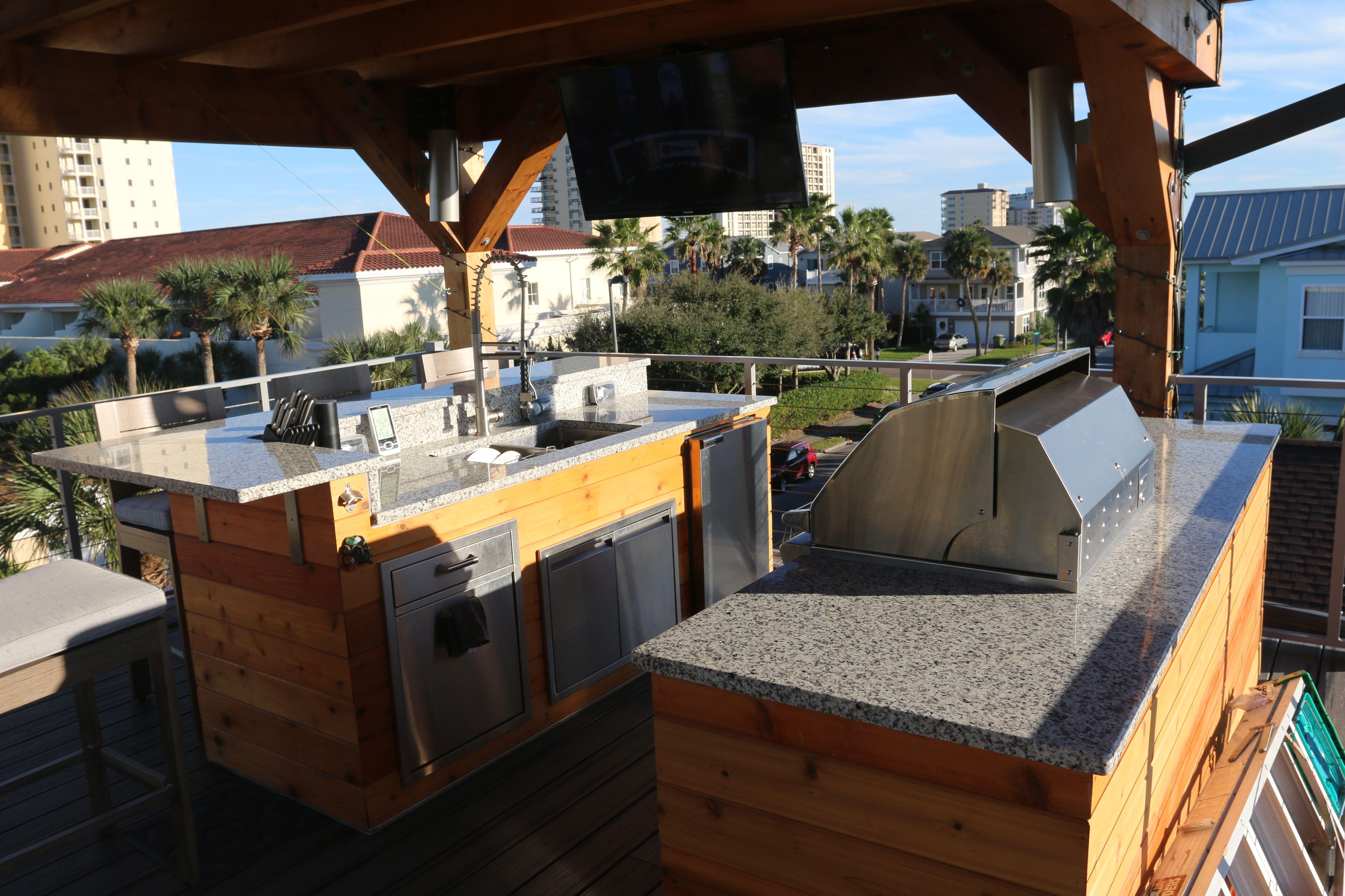Rooftop Deck Summer Kitchen Beach House Exterior Summer Kitchen Rooftop Deck