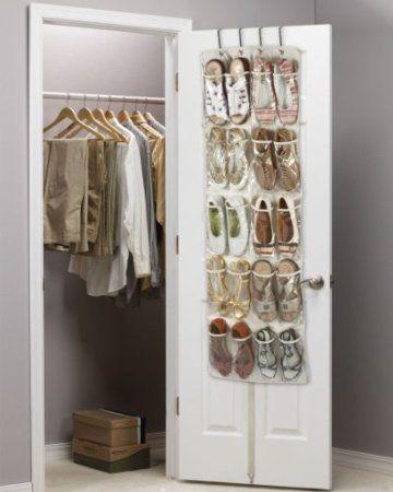 20 Pocket Clear PVC Over Door Shoe Organizer - Hanging: Amazon.co.uk: Kitchen & Home
