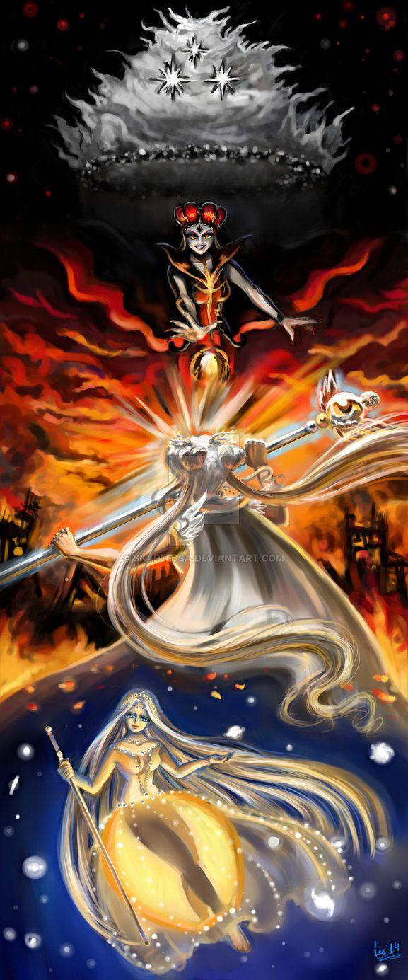 Sailor Cosmos, Sailor Chaos, Guardian Cosmos and Chaos
