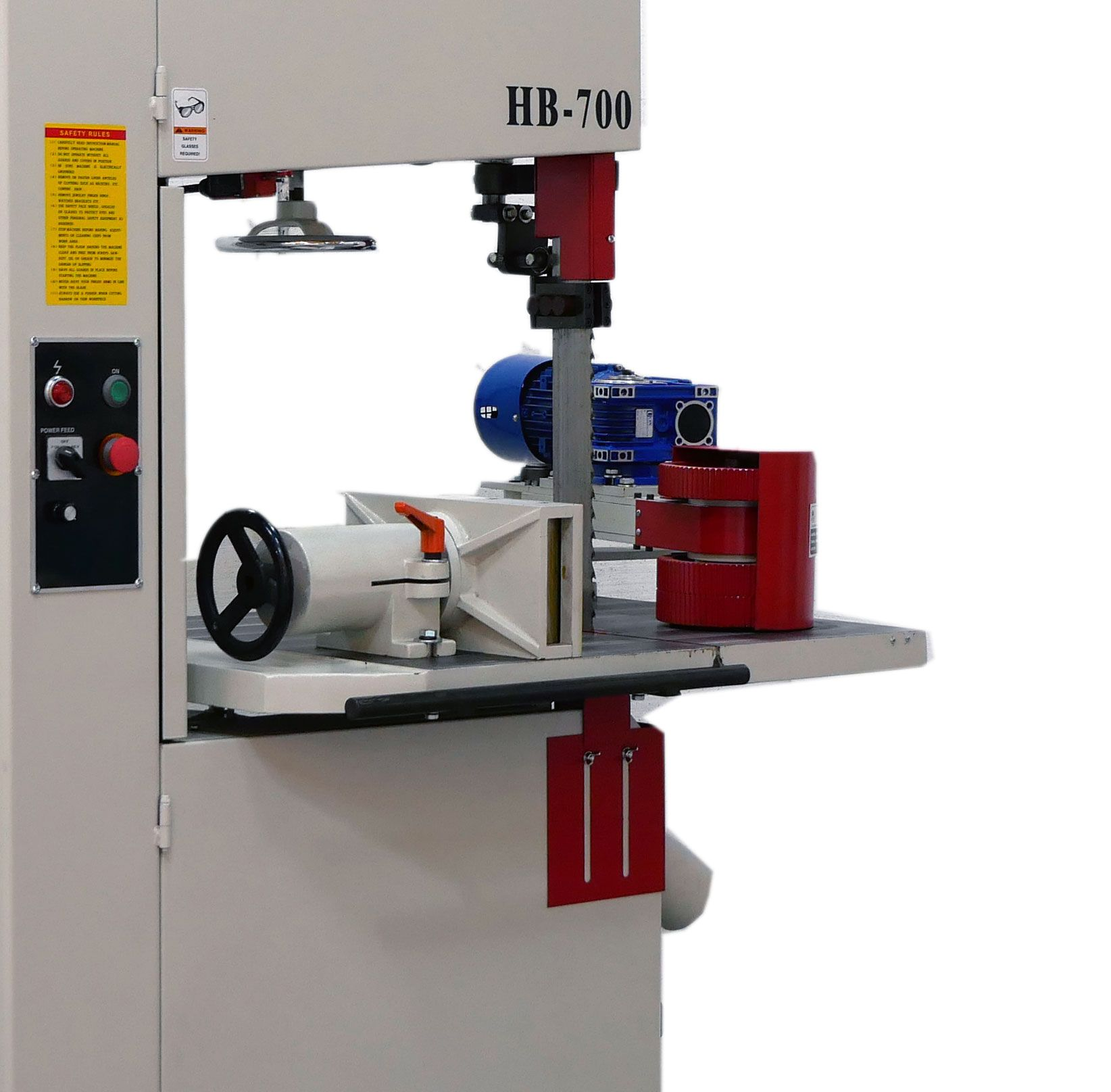 Sawyer R700 Power Band Resaw with Feed 15hp Tilt table