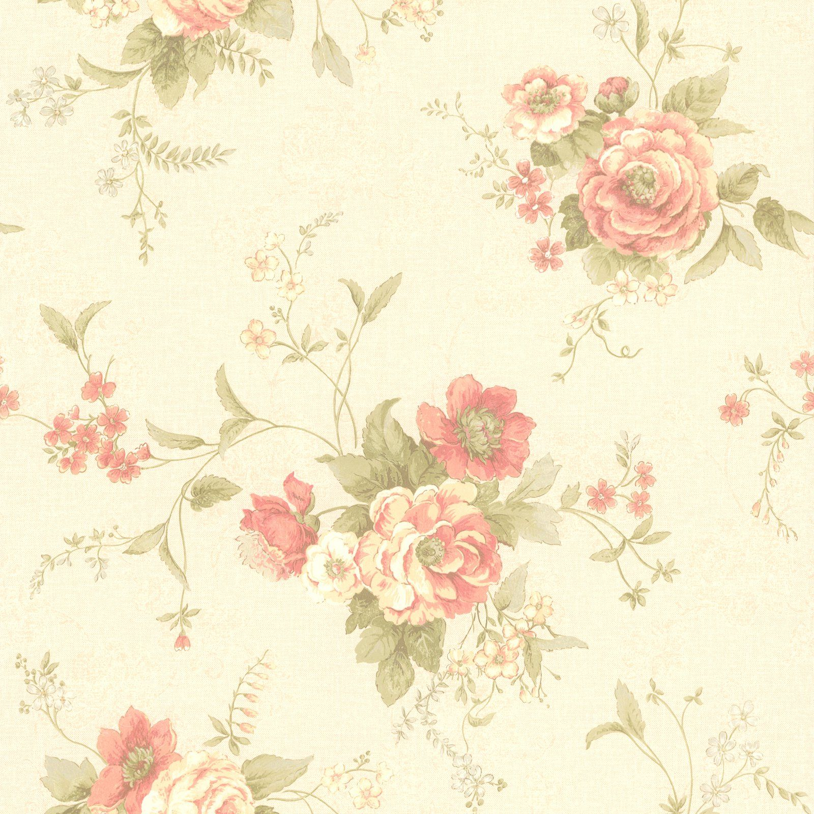 Mirage Stella Maxwell Floral Wallpaper Taupe Vintage Floral