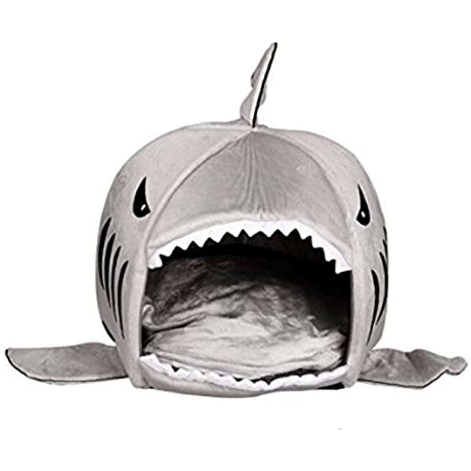 Nalanda Grey Shark Bed For Large Cat Dog Cave Bed Removable Cushion Waterproof Bottom Most Lovely Pet House Gift For Pet Check Out The Image With Images Washable Dog Bed