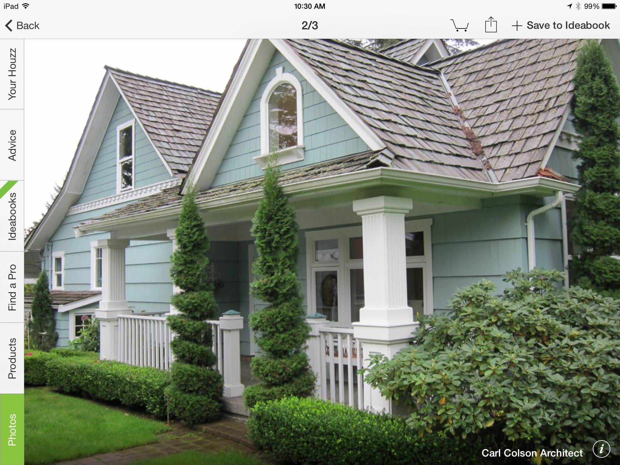 Sea foam green white trim Exterior house Pinterest
